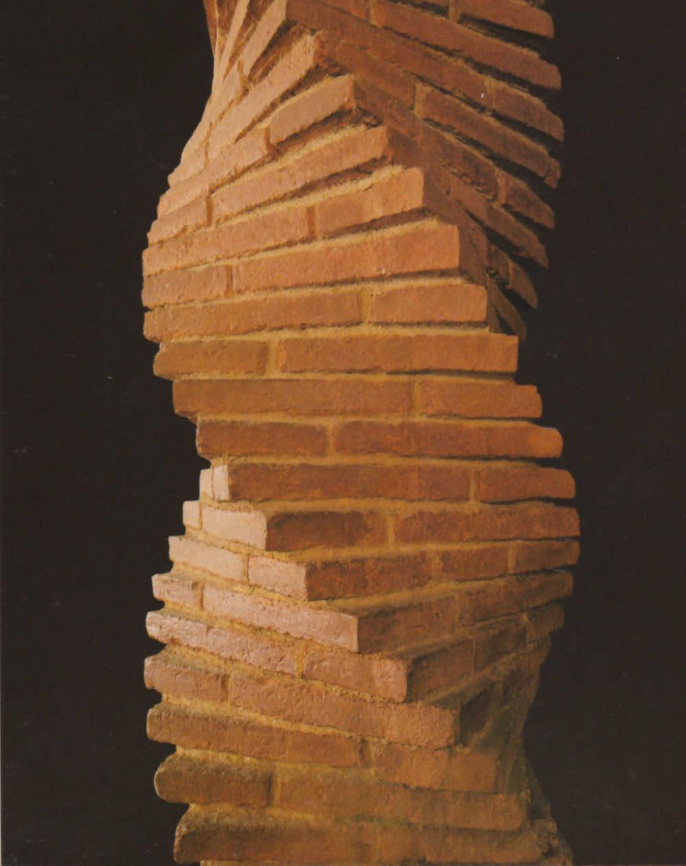 Винтовая колонна из кирпича своими руками